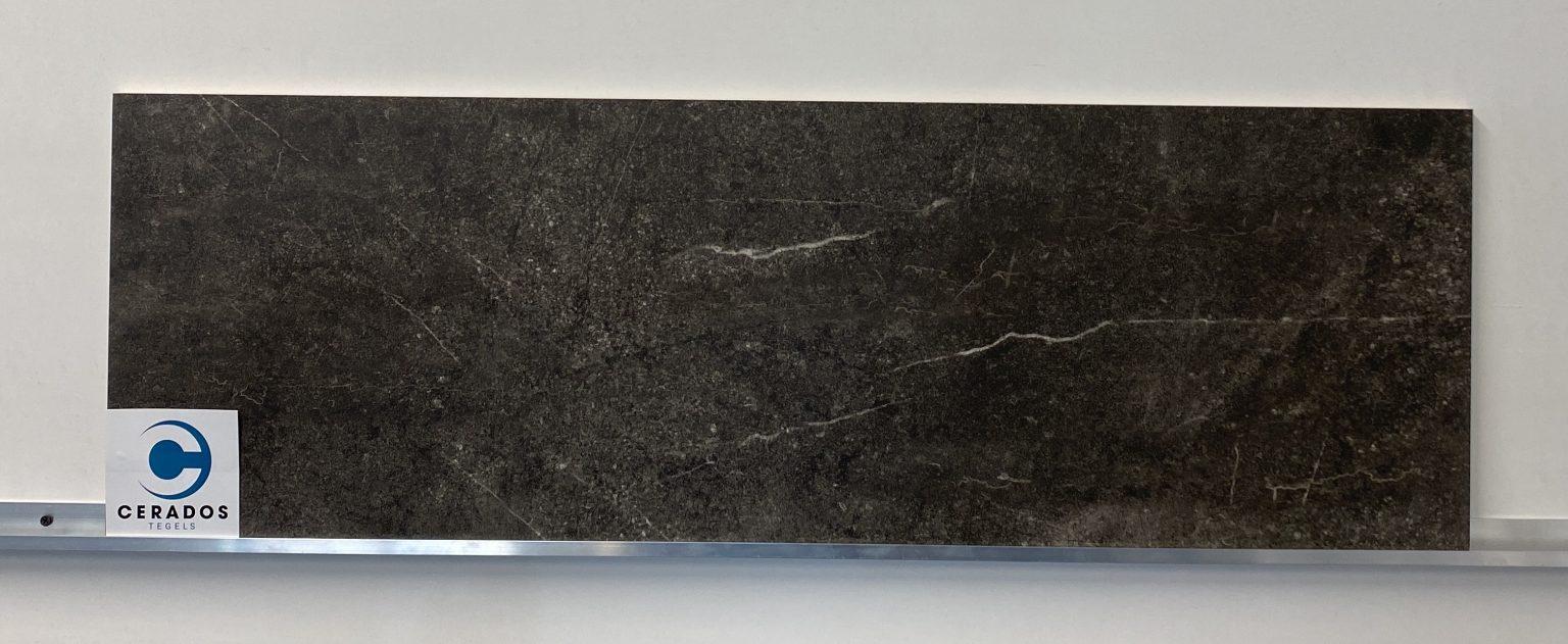 wandtegel marmerlook zwart mat 33,3x100