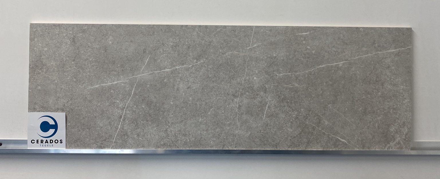 wandtegel marmerlook grijs mat 33,3x100