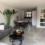 Betonlook vloertegel grijs Padua in woonkamer